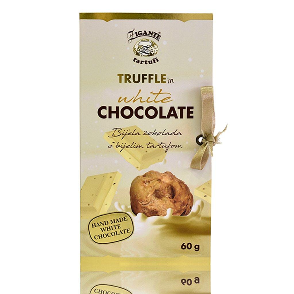 White chocolate with white truffles