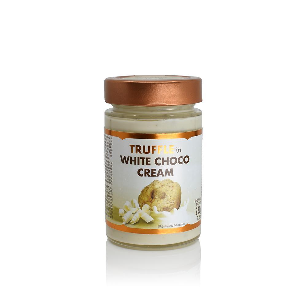 Truffle in white choco cream