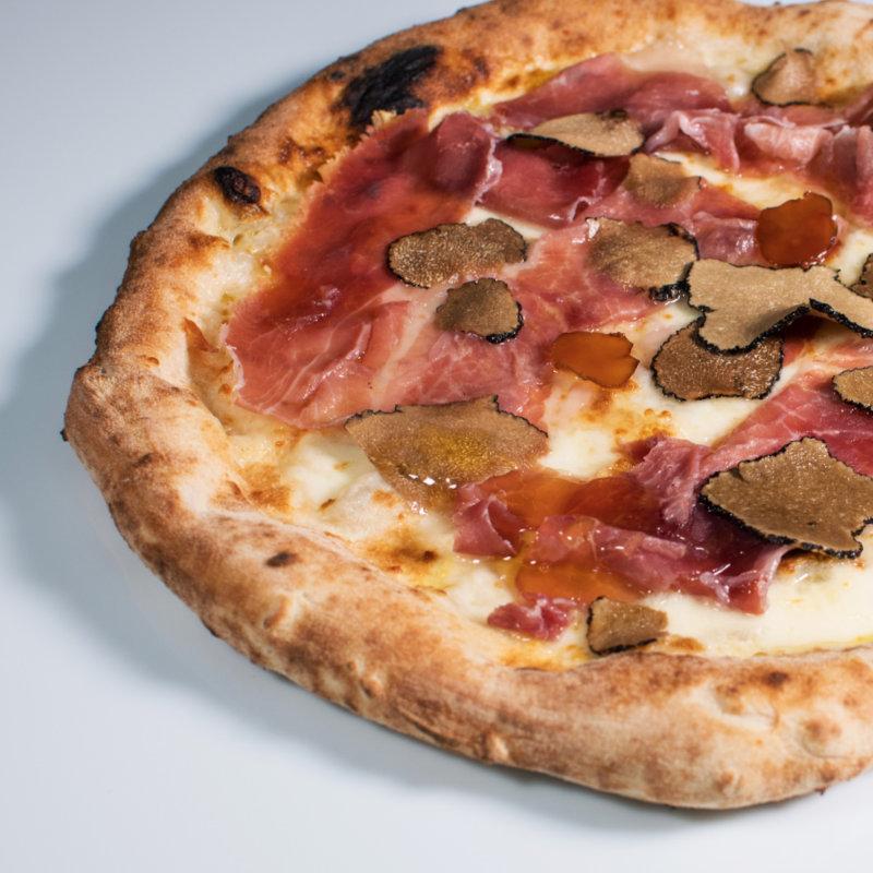 Honey and truffle pizza