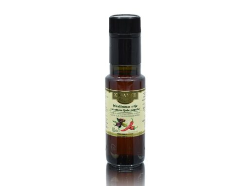 Olive oil with chilli pepper flavour