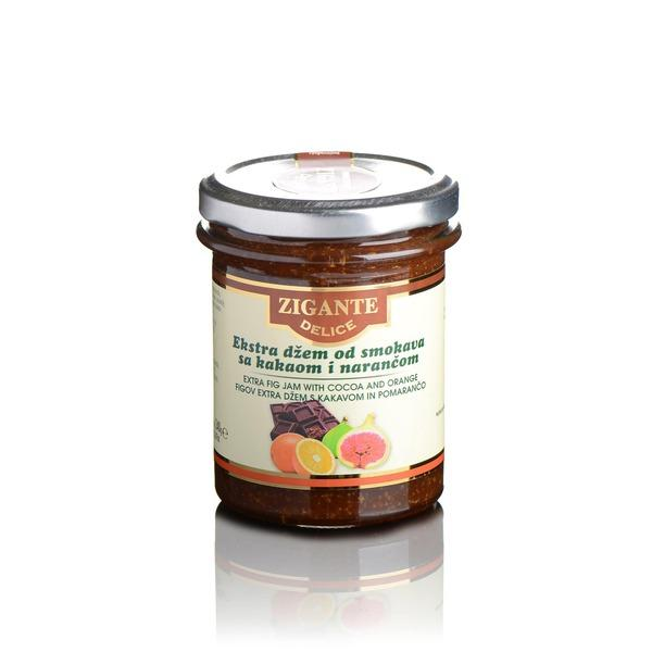 Extra fig jam with cocoa and orange